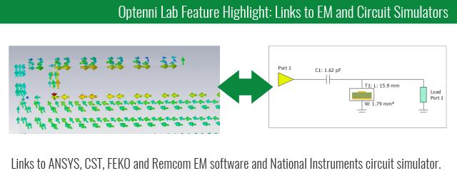 Optenni Lab - Links to EM and circuit simulators