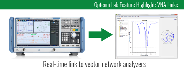 Optenni Lab - Link to Network Analyzers